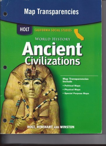 9780030421099: Holt World History California: Map Transparencies Grades 6-8 Ancient Civilizations
