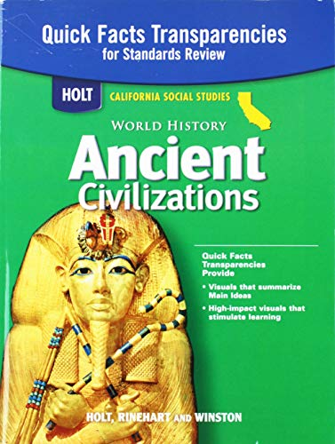 9780030421129: Quick Facts Transparencies for Standards Review (Holt California Social Studies, World History Ancient Civilizations)
