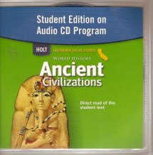 9780030421136: Holt World History California: Student Edition Audio CD Grades 6-8 Ancient Civilizations