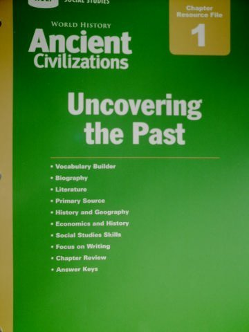 9780030421174: Holt Social Studies: Ancient Civilizations Chapter Resource File 1: Uncovering the Past