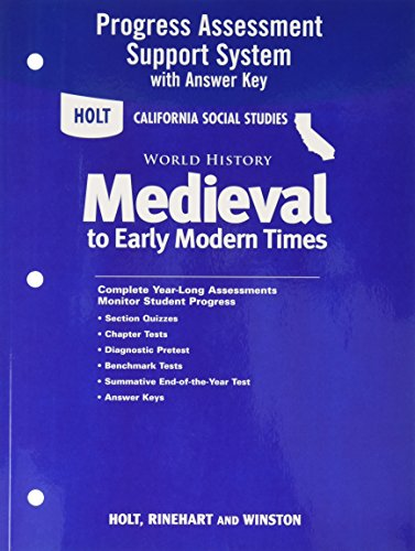 9780030422140: Holt World History California: Program Assessment System with Answer Key Grades 6-8 Medieval Times