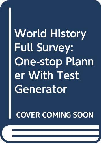 9780030422584: World History Full Survey: One-Stop Planner® CD-ROM with Test Generator