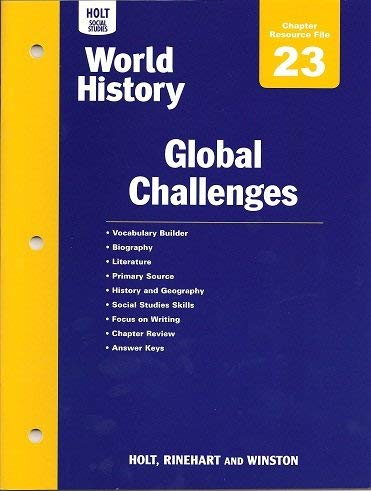 9780030423048: Holt World History: Chapter 23 Resource File Grades 6-8