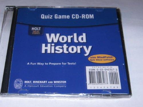 9780030423178: World History: Quiz Game CD-ROM
