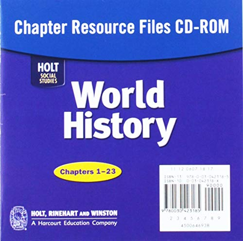 9780030423185: Holt World History Chapter Resources Files CD ROM