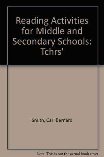 9780030423215: Reading Activities for Middle and Secondary Schools: Tchrs'