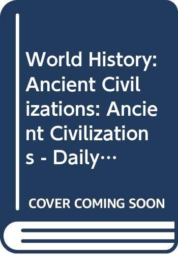 9780030423475: World History: Ancient Civilizations: Daily Bellringer Transparencies