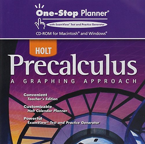 9780030423949: Holt Precalculus: One-Stop Planner CD-ROM