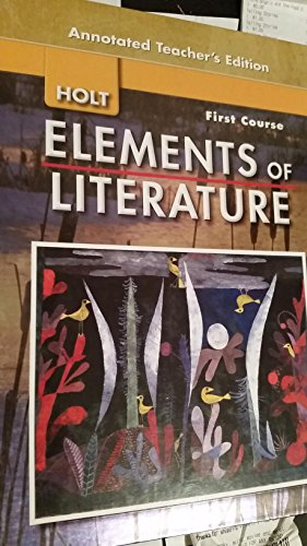 9780030424236: Elements of Literature: Grade 7, First Course 2007