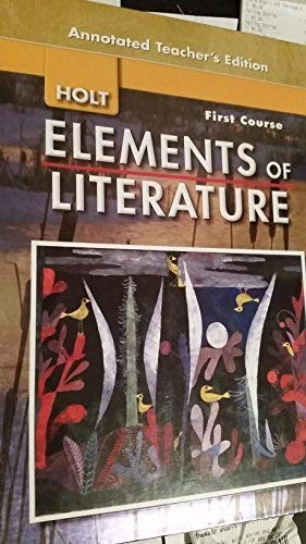 9780030424236: Elements of Literature, First Course (Annotated Teacher's Edition)