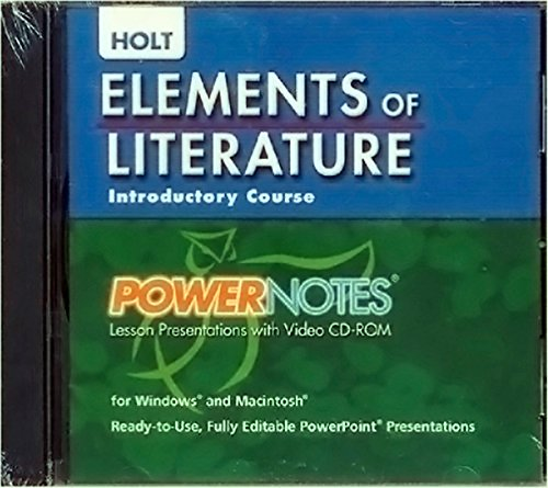 9780030424335: Elements of Literature: PowerNotes Lesson Presentation CDROM Grade 6 Introductory Course