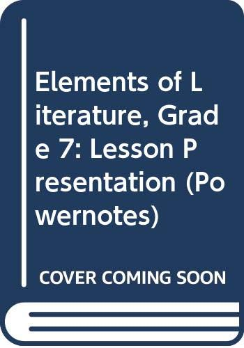 9780030424342: Elements of Literature: PowerNotes Lesson Presentation CDROM Grade 7 First Course