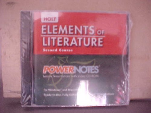 9780030424373: PowerNotes Lesson Presentations (Elements of Literature, Grade 8, 2nd Course)