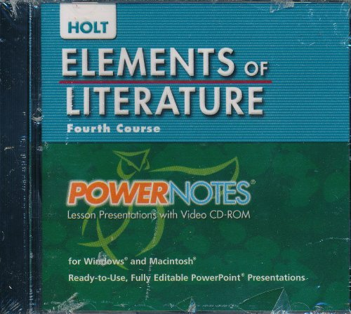9780030424397: Elements of Literature: PowerNotes Lesson Presentation CDROM Grade 10 Fourth Course