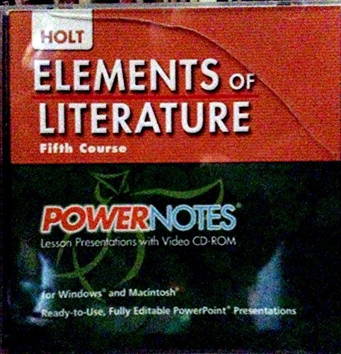 9780030424427: Elements of Literature: PowerNotes Lesson Presentation CDROM Grade 11 Fifth Course