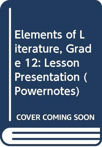 9780030424434: Elements of Literature: PowerNotes Lesson Presentation CDROM Grade 12 Sixth Course