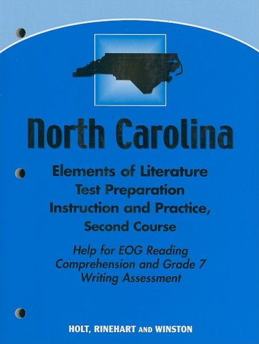 9780030424977: Holt Elements of Literature North Carolina: Test Preparation Workbook Grade 08