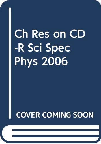 9780030425530: Ch Res on CD-R Sci Spec Phys 2006