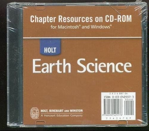 9780030425578: Holt Earth Science: Chapter Resources on CD-ROM