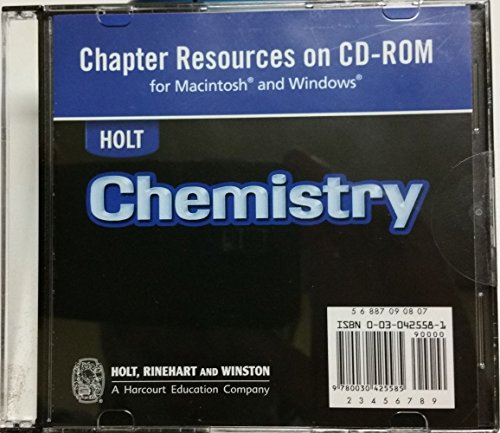 9780030425585: Chapter Resources on CD-ROM for Holt