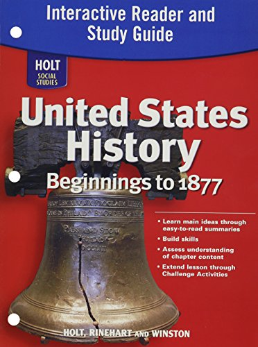 9780030426438: Holt Social Studies: United States History: Beginnings to 1877: Interactive Reader and Study Guide
