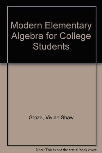 9780030426513: Modern Elementary Algebra for College Students