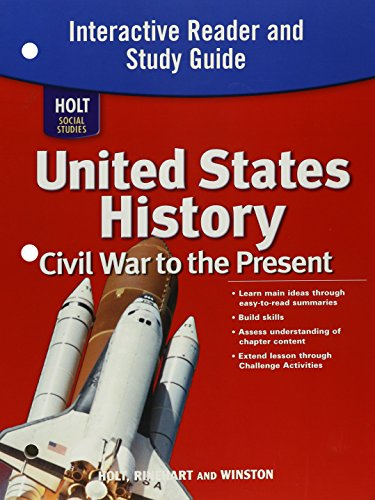 9780030426537: Holt Social Studies: United States History: Civil War to the Present: Interactive Reader and Study Guide