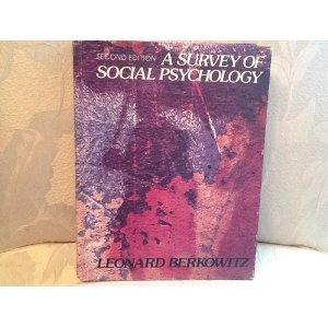9780030427312: Survey of Social Psychology