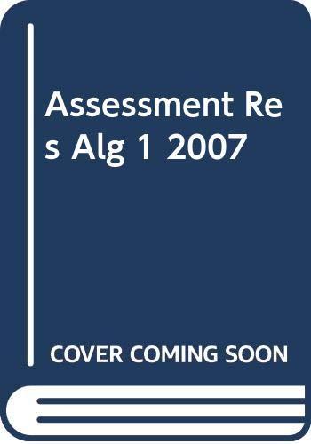 9780030427473: Assessment Resources Holt Algebra 1 2007