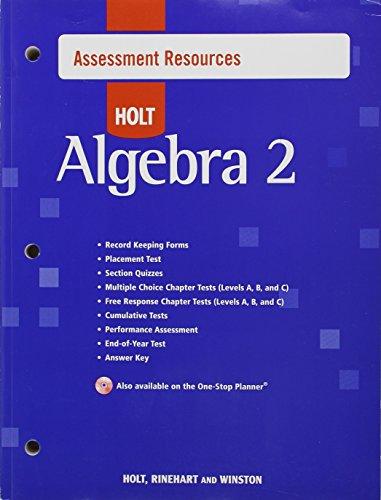 9780030427497: Assessment Resources (Holt Algebra 2)