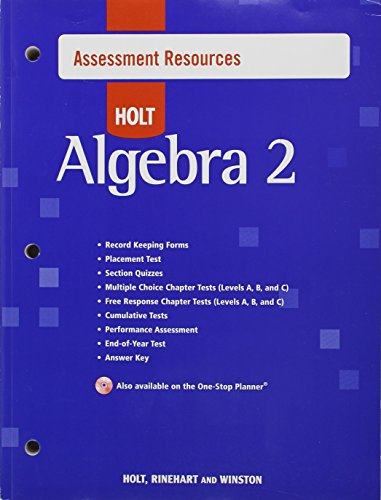 9780030427497: Assessment Res W/Answ Algebra 2 2007 (Holt Algebra 2)