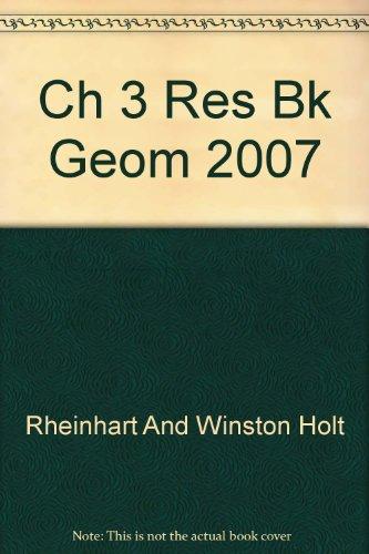 9780030427749: Ch 3 Res Bk Geom 2007