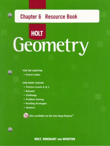 9780030427794: Holt Geometry Chapter 6 Resource Book