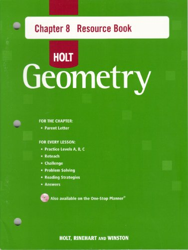 9780030427831: Holt Geometry Chapter 8 Resource Book.