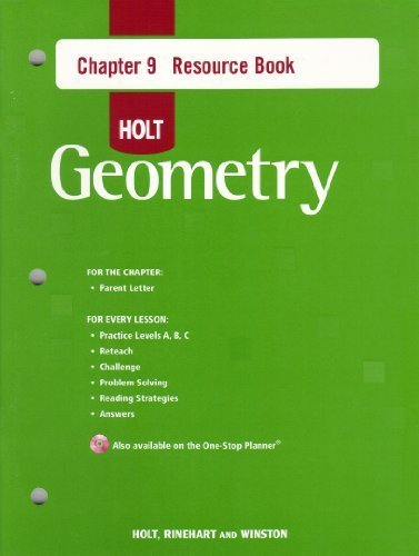 9780030427848: Holt Geometry Chapter 9 Resource Book