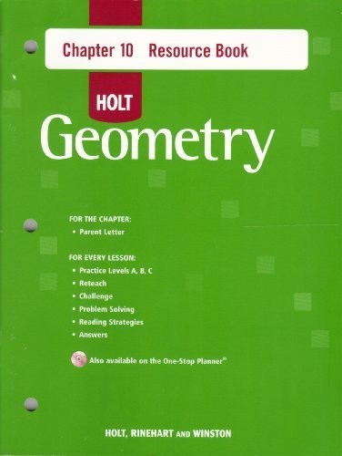 9780030427879: Holt Geometry Chapter 10 Resource Book