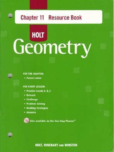 9780030427886: Holt Geometry Chapter 11 Resource Book