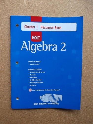 9780030427923: Holt Algebra 2: Resource Book with Answers: Chapter 1