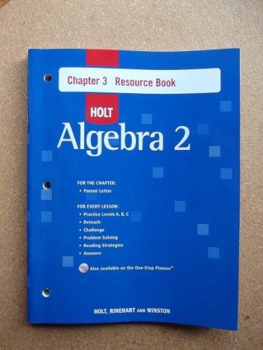 9780030427947: Ch 3 Res Bk W/ANS Alg 2 2007