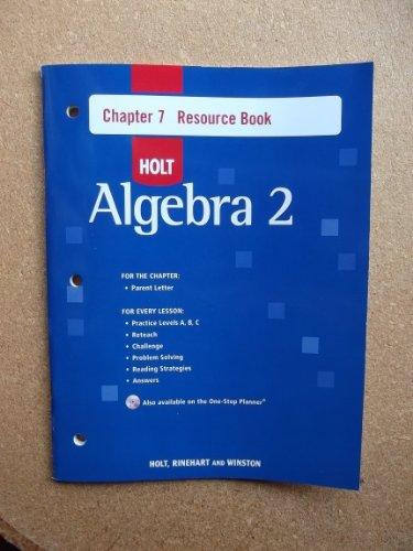 9780030428135: Ch 7 Res Bk W/ANS Alg 2 2007