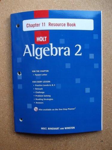 9780030428197: Holt Algebra 2, Chapter 11: Resource Book