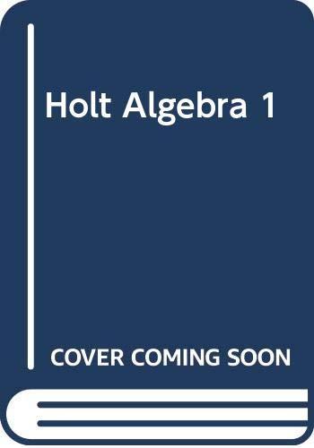 9780030428746: Holt Algebra 1