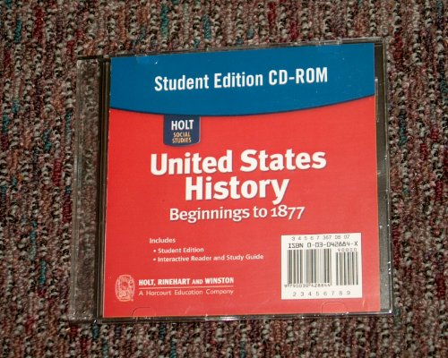 9780030428845: United States History: Beginnings to 1877, Student Edition (Holt Social Studies)