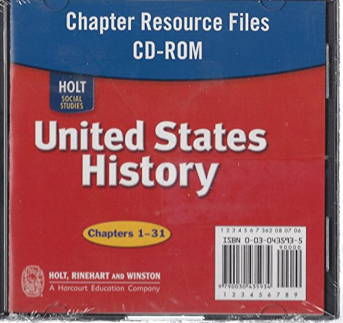 9780030429149: Chapter Resource Files (Holt Social Studies: United States History: Beginnings to 1877)
