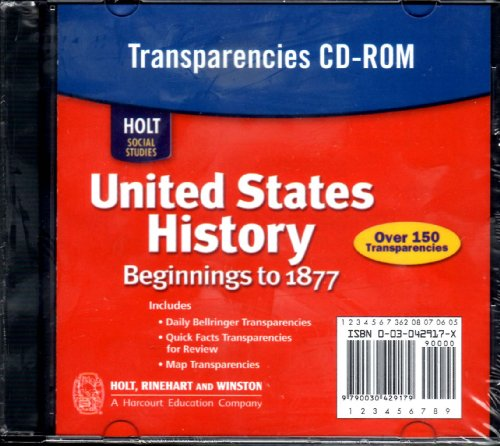 9780030429170: Transparencies CD-ROM (Holt Social Studies: United States History: Beginnings to 1877)