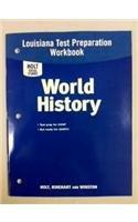 9780030429279: Holt World History Louisiana: Test Prep Booklet Grades 6-8