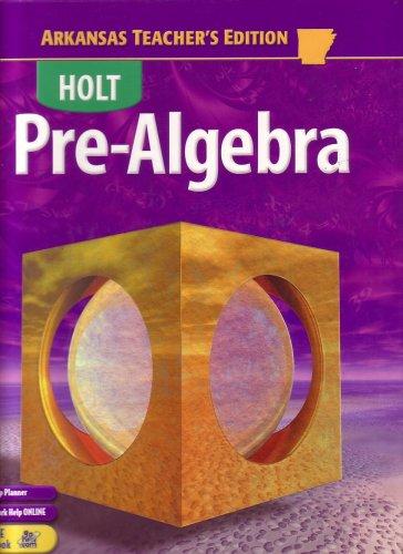 9780030429781: Holt Pre-algebra Arkansas Edition