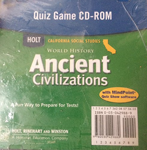 9780030429880: Holt World History California: Quiz Game CD-ROM Grades 6-8 Ancient Civilizations