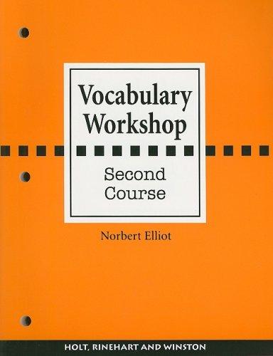 9780030430176: Vocabulary Workshop, Second Course