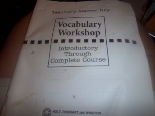 Key Vocabulary Workshop: Introductory Through Complete Course: Elliot